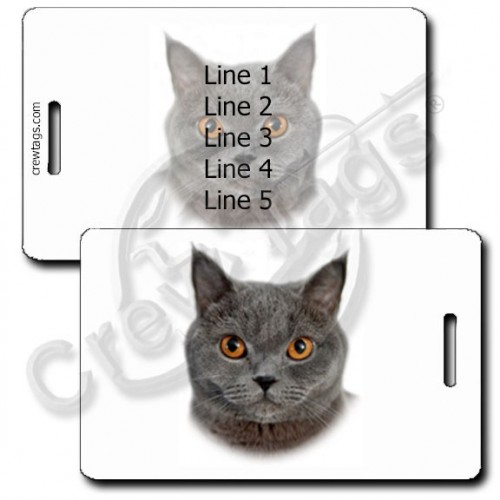 PERSONALIZED CHARTREUX CAT LUGGAGE TAGS