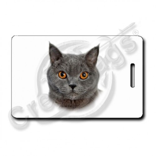 CHARTREUX CAT LUGGAGE TAGS
