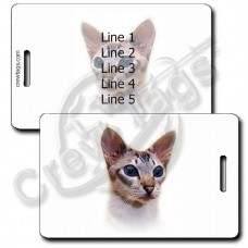 PERSONALIZED COLORPOINT CAT LUGGAGE TAGS