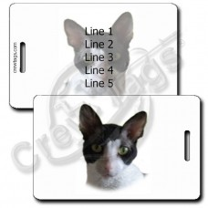 PERSONALIZED CORNISH REX CAT LUGGAGE TAGS