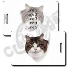 PERSONALIZED CYMRIC CAT LUGGAGE TAGS