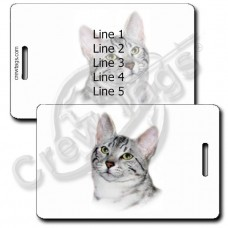 PERSONALIZED EGYPTIAN MAU CAT LUGGAGE TAGS