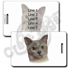 PERSONALIZED EUROPEAN BURMESE CAT LUGGAGE TAGS