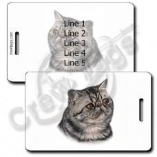 PERSONALIZED EXOTIC SHORTHAIR PERSIAN CAT LUGGAGE TAGS