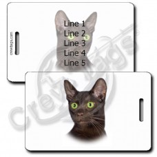 PERSONALIZED HAVANA BROWN CAT LUGGAGE TAGS