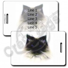PERSONALIZED HIMALAYAN CAT LUGGAGE TAGS