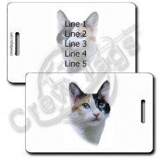 PERSONALIZED JAPANESE BOBTAIL CAT LUGGAGE TAGS