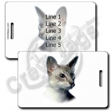 PERSONALIZED JAVANESE CAT LUGGAGE TAGS