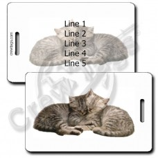 PERSONALIZED KITTENS LUGGAGE TAGS