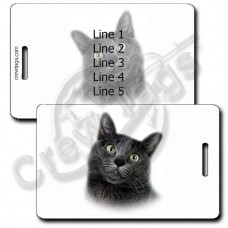 PERSONALIZED KORAT CAT LUGGAGE TAGS