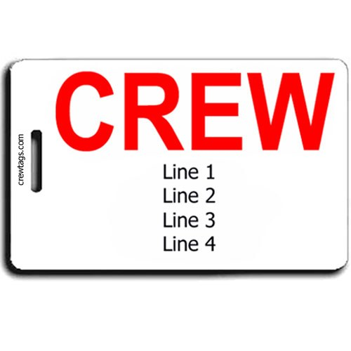 CREW TAGS PERSONALIZED LUGGAGE TAGS SAME BOTH SIDES