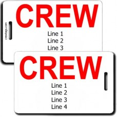 CREW TAGS: SAME INFORMATION PRINTED ON BOTH SIDES