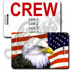 AMERICAN FLAG AND EAGLE CREW TAGS