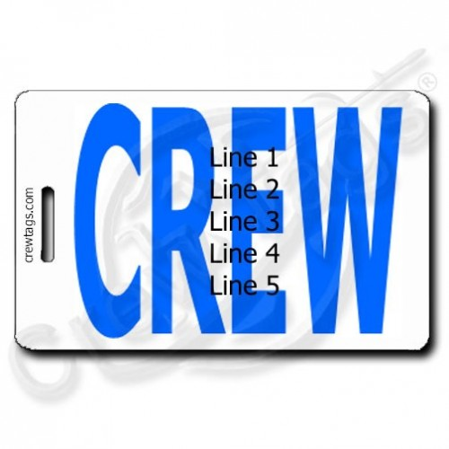 BOLD BLUE PERSONALIZED CREW TAGS