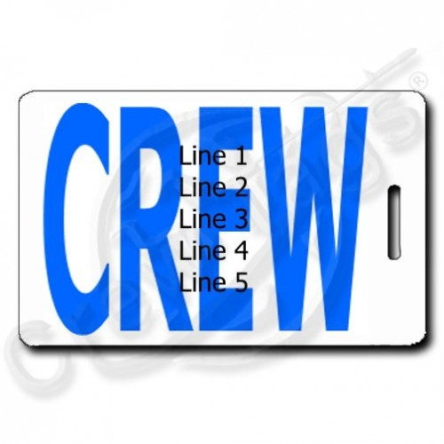 BOLD BLUE CREW TAGS