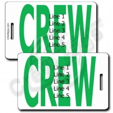 PERSONALIZED BOLD GREEN CREW TAGS
