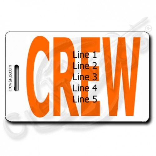 BOLD ORANGE PERSONALIZED CREW TAGS