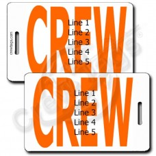 BOLD ORANGE CREW TAGS