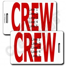 BOLD RED CREW TAGS