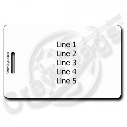 PERSONALIZED LUGGAGE TAG BACK