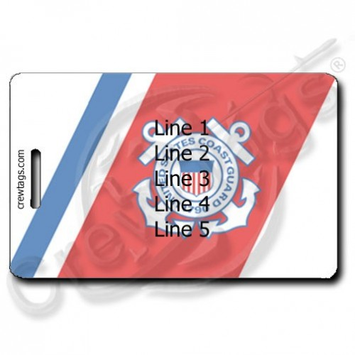 COAST GUARD PERSONALIZED LUGGAGE TAG