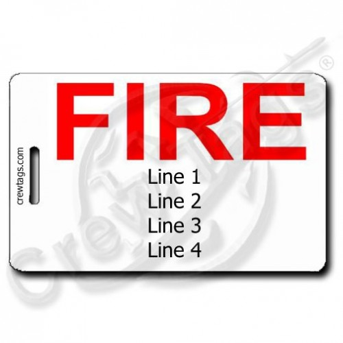 FIRE PERSONALIZED LUGGAGE TAG