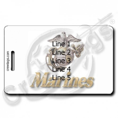 CUSTOM PHOTO UNITED STATES MARINES LUGGAGE TAG