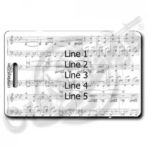 MUSIC SCORE PERSONALIZED LUGGAGE TAG