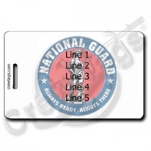 NATIONAL GUARD PERSONALIZED LUGGAGE TAG