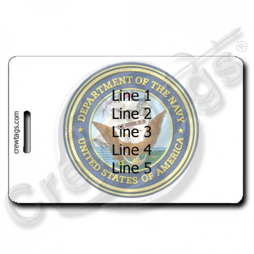 US NAVY PERSONALIZED LUGGAGE TAG