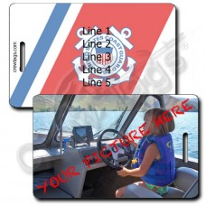 CUSTOM PHOTO COAST GUARD PERSONALIZED LUGGAGE TAG