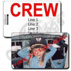CUSTOM PHOTO: CREW STYLE LUGGAGE TAG