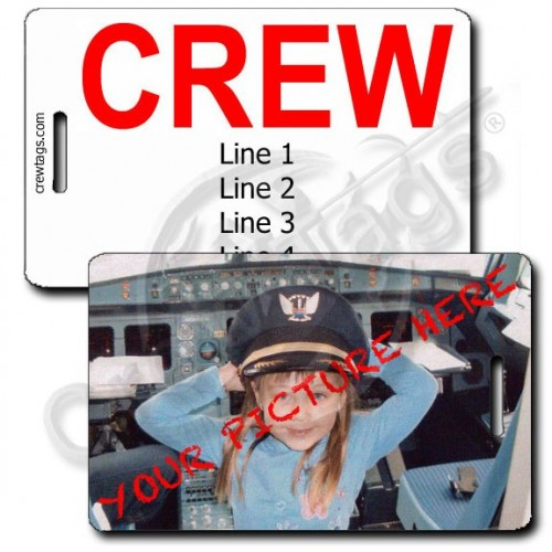 CUSTOM PHOTO CREW STYLE PERSONALIZED  LUGGAGE TAG