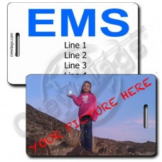 CUSTOM PHOTO PERSONALIZED EMS LUGGAGE TAG