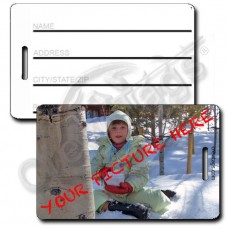 CUSTOM PHOTO FILL IN THE BLANK LUGGAGE TAG