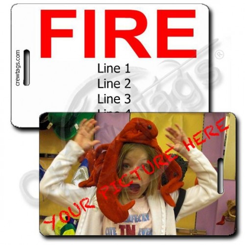 CUSTOM PHOTO: FIRE LUGGAGE TAG
