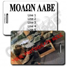 CUSTOM PHOTO: MOLON LABE LUGGAGE TAG