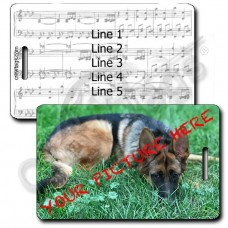 CUSTOM PHOTO MUSIC SCORE PERSONALIZED LUGGAGE TAG