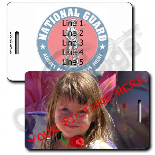 CUSTOM PHOTO NATIONAL GUARD PERSONALIZED LUGGAGE TAG