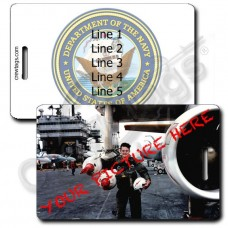CUSTOM PHOTO US NAVY PERSONALIZED LUGGAGE TAG