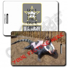 CUSTOM PHOTO PERSONALIZED UNITED STATES ARMY LUGGAGE TAG