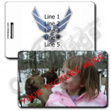 CUSTOM PHOTO: US AIR FORCE LOGO LUGGAGE TAG