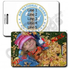 CUSTOM PHOTO: US AIR NATIONAL GUARD LUGGAGE TAG