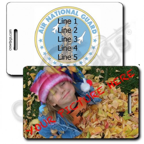 CUSTOM PHOTO AIR NATIONAL GUARD PERSONALIZED LUGGAGE TAG