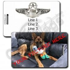 CUSTOM PHOTO: USAF COMMAND PILOT LUGGAGE TAGS