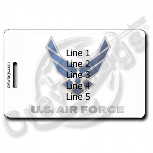 CUSTOM PHOTO: AIR FORCE LOGO LUGGAGE TAG