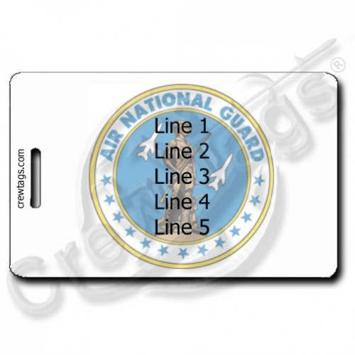CUSTOM PHOTO: AIR NATIONAL GUARD LUGGAGE TAG