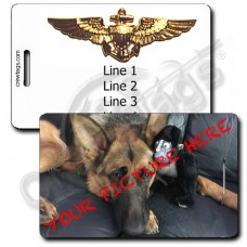 CUSTOM PHOTO: USN AVIATOR LUGGAGE TAG