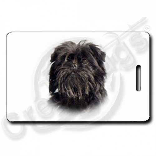 AFFENPINSCHER LUGGAGE TAGS WITH PAW PRINT BACK