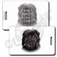 AFFENPINSCHER PERSONALIZED LUGGAGE TAG